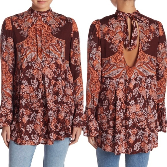 Free People Tops - NWT Free People Lady Luck Boho Tunic Dress Top